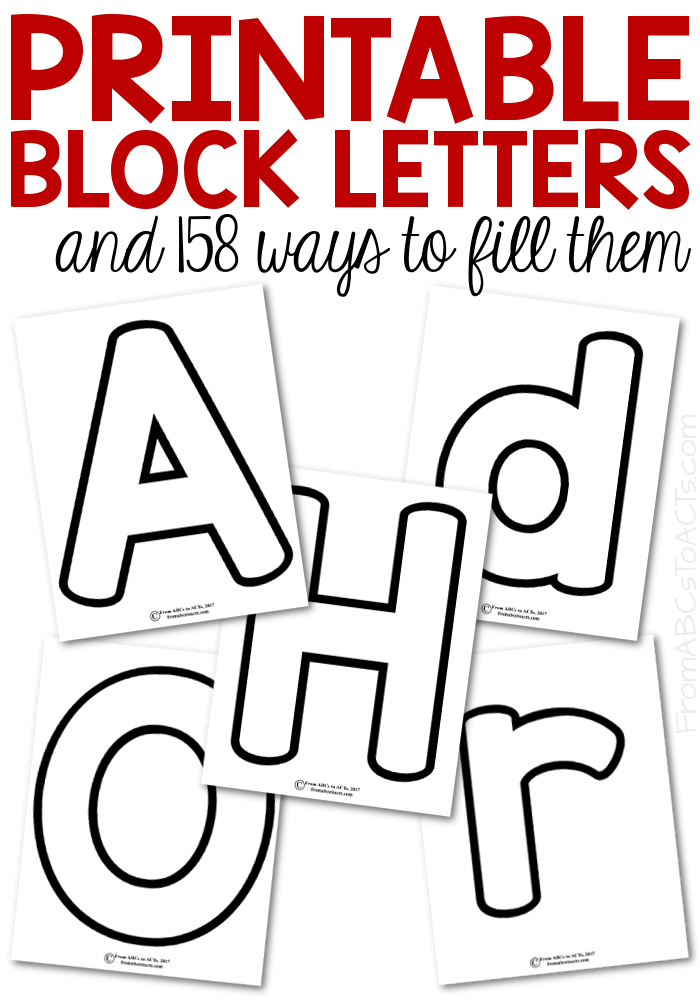 Printable Block Letters And 158 Ways To Fill Them With