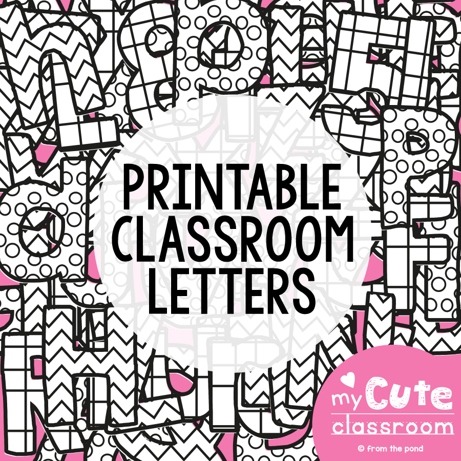 Printable Bulletin Board Letters From The Pond