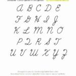 Printable Cursive Alphabet Chart Cursive Letter Template