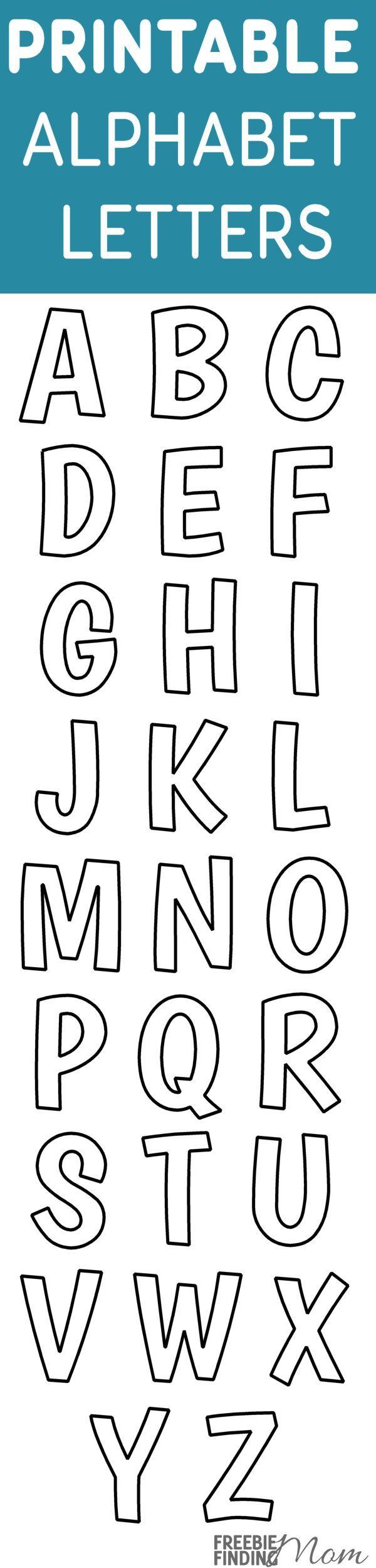 Printable Free Alphabet Templates Printable Alphabet
