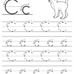 Printable Letter C Tracing Worksheet With Number And Arrow