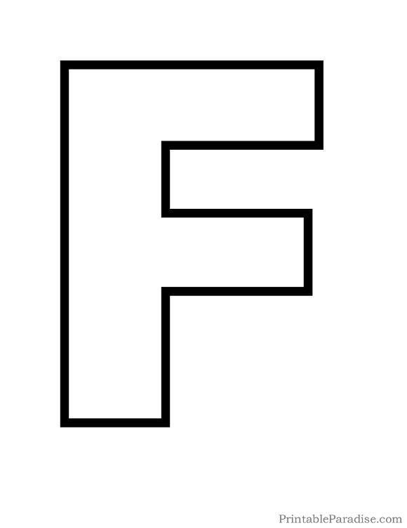 Printable Letter F Outline Print Bubble Letter F Arts