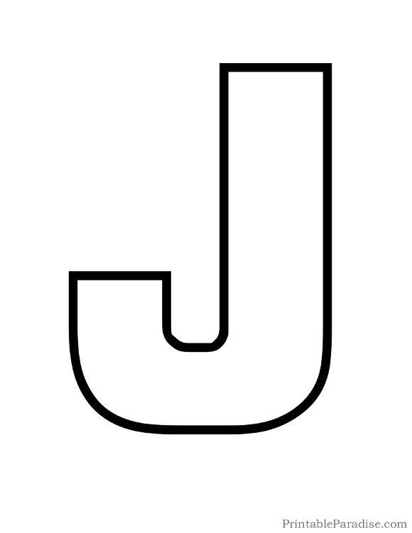 Printable Letter J Outline Print Bubble Letter J Free