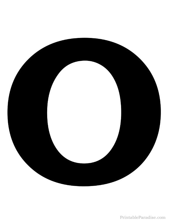 Printable Letter O Silhouette Print Solid Black Letter O