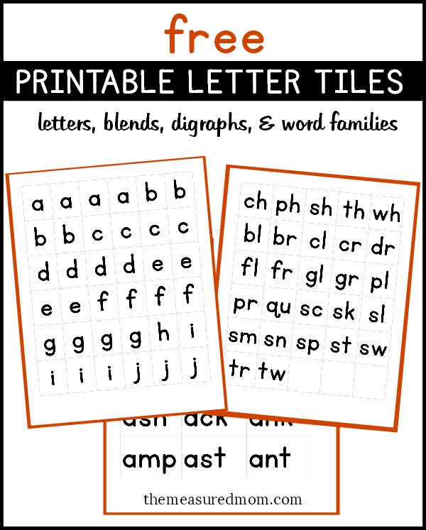 Printable Letter Tiles For Building Words The Measured Mom