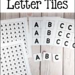 Printable Letter Tiles PreKinders