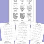 Printable Lettering Worksheets Free Printable 20 Free