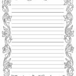 Printable Lined Paper With Border Followershut Regarding
