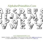 Printable PDF Alphabet Letter Chart Templates Alphabet