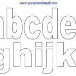 Printable PDF LowerCase Alphabet Letters Lettering