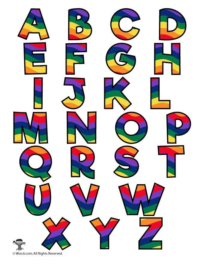 Rainbow Alphabet Printable Letters Woo Jr Kids