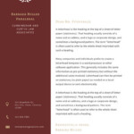 Red Sidebar Law Firm Letterhead Templates By Canva