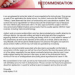 Sample Recommendation Letter From Shadowing Dentist