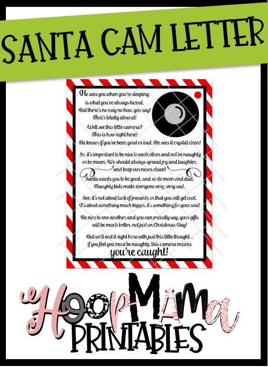 Santa Camera Letter Printable DOWNLOAD HoopMama