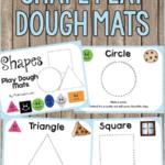 Shape Play Dough Mats PreKinders