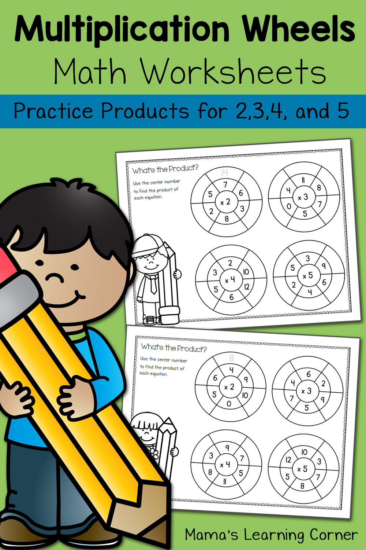 Simple Multiplication Wheels Math Worksheets Mamas