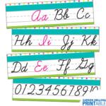 Simply Stylish Tropical Cursive Alphabet Line Printable