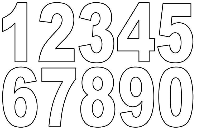 Small Printable PDF Numbers Free Printable Numbers