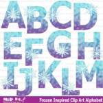 Snowflake Alphabet Winter Clip Art Snowflake Clip Art