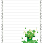 St Patrick s Day Free Printable Lined Stationery Free