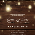 Strings Of Lights Wedding Invitation Template free In