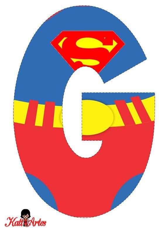 Superman Free Alphabet Alfabeto Gratis De Superman