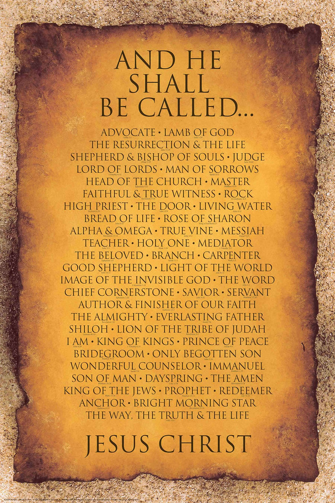 The Many Names Of God Poster Carolyn Flickr