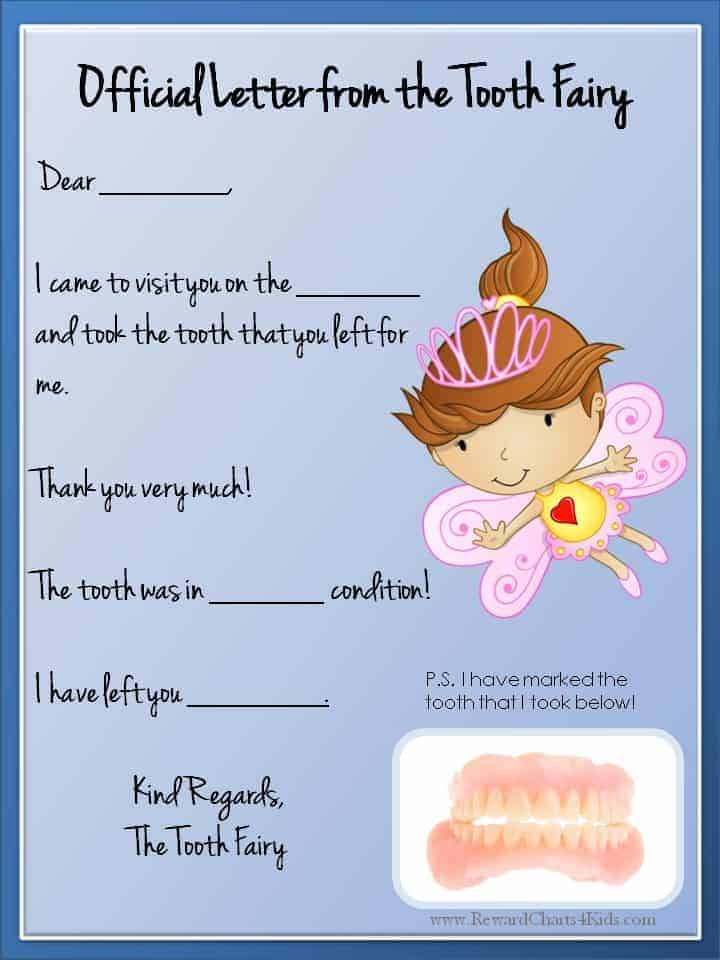 Tooth Fairy Letter Free Printable