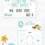 Tooth Fairy Letter Printable Kit Blue Press Print Party