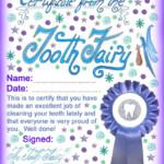 Tooth Fairy Tooth Fairy Certificate Tooth Fairy Letter