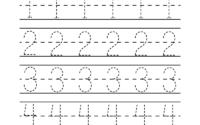 Traceable Numbers Worksheet Free Kindergarten Math