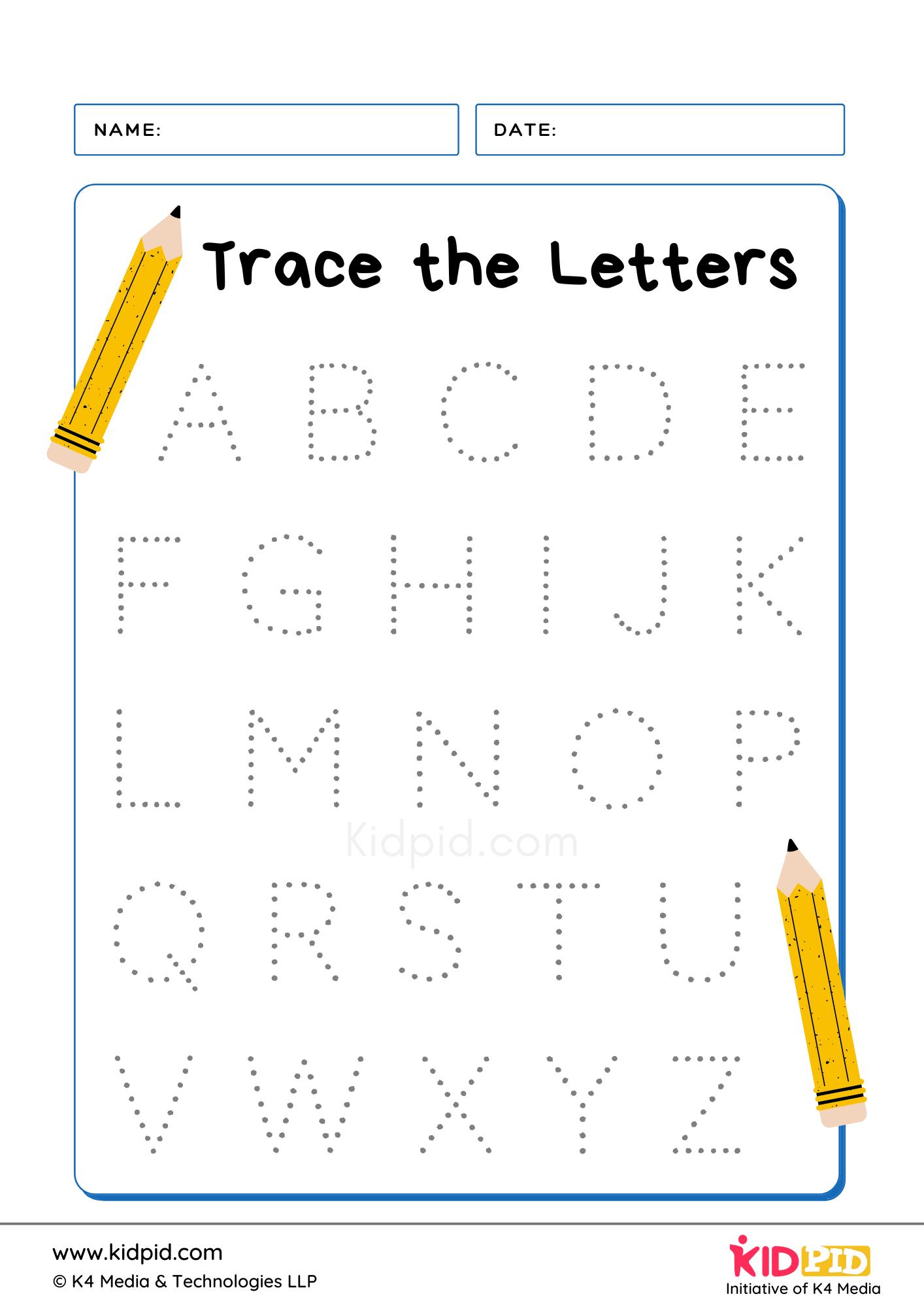 Tracing Letter Writing Foundational Worksheet Kidpid