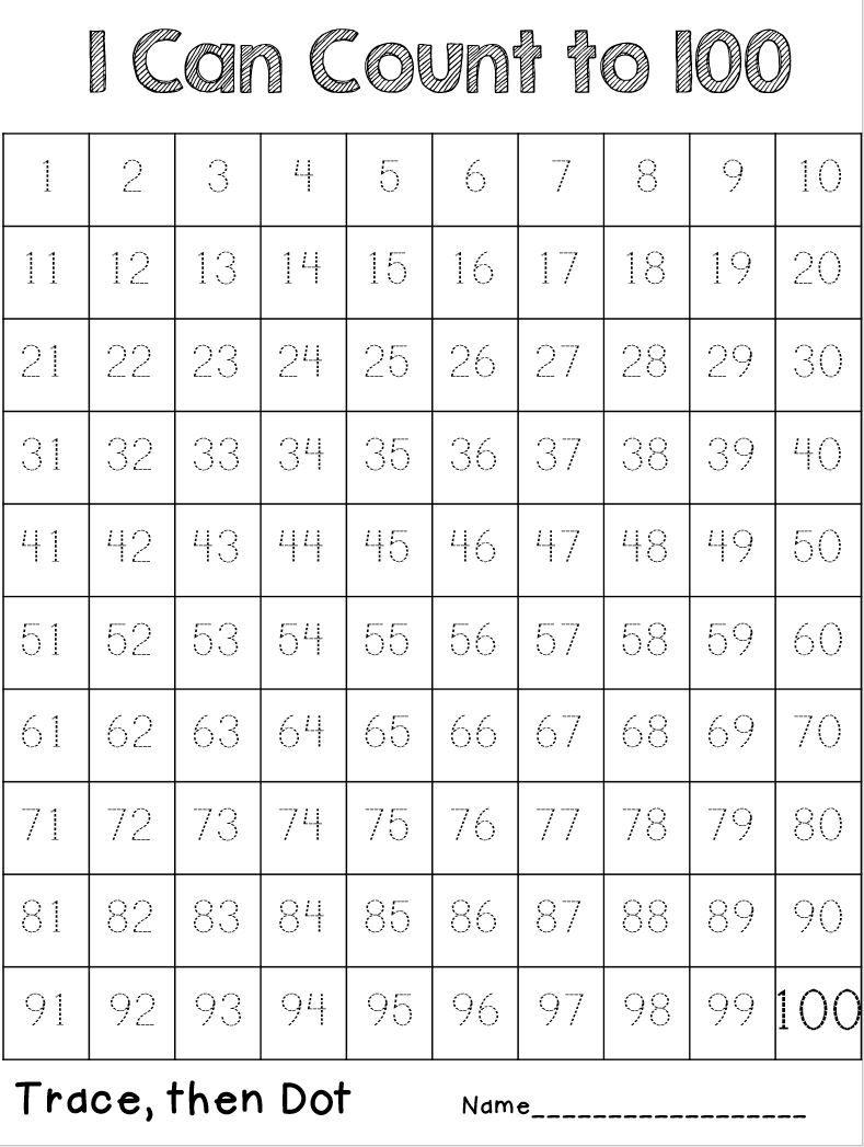 Tracing Numbers Worksheets 1 100 NumbersWorksheet