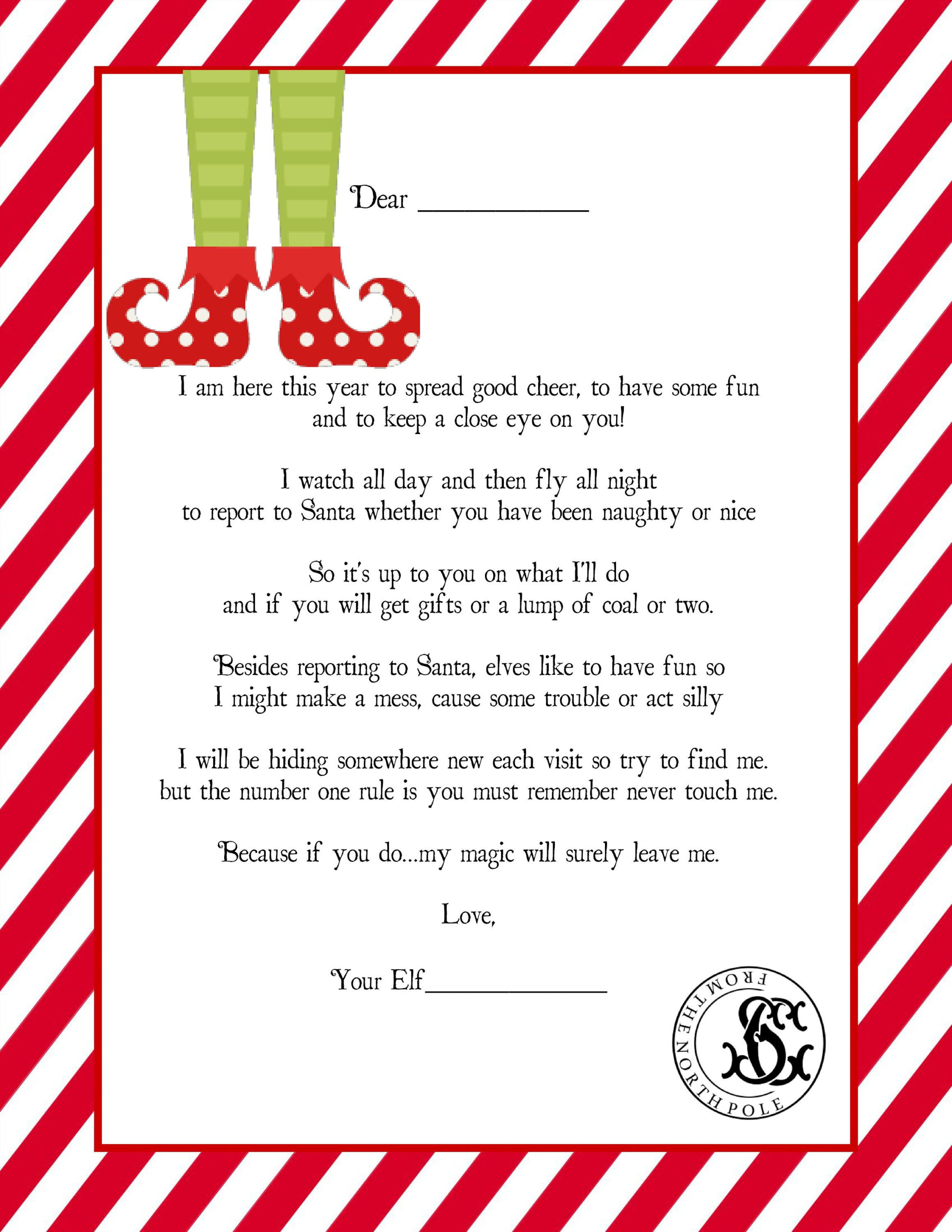 Ultimate Elf On The Shelf Welcome Letter And Printable