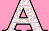 Unicorn Letters Numbers To Print 3 Free Printable