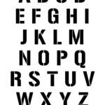 Uppercase Alphabet Stencil Letter Set Woo Jr Kids