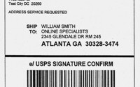 Usps Shipping Label Template Download Unique Printable