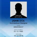 Vertical ID id card templateid card template Business