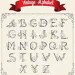 Vintage Handwritten Wedding Digital Alphabet Printable Alpha
