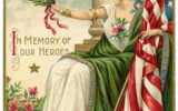 Vintage Memorial Day Image Lady Liberty 2 The Graphics