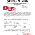 Warning Letter From Santa Naught List Santa Letter