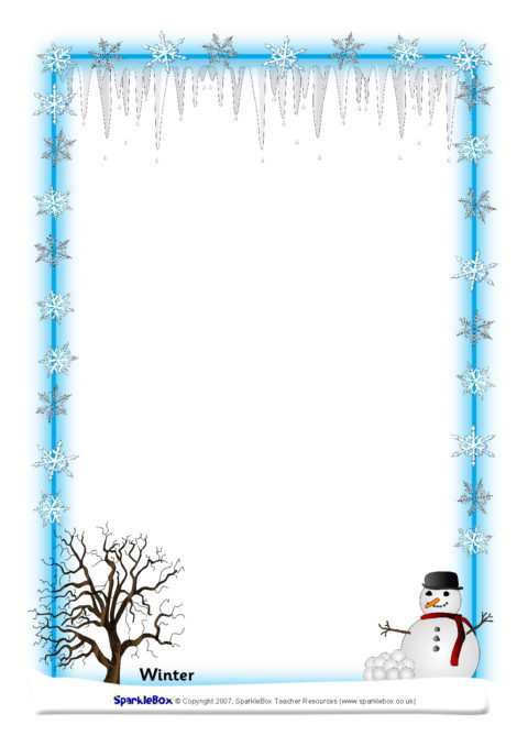 Weather And Seasons A4 Page Borders
