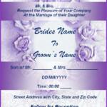 Wedding Invitation Format Free Word Templates
