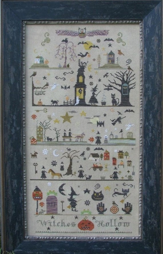 Witches Hollow Counted Cross Stitch Pattern By The Primitive