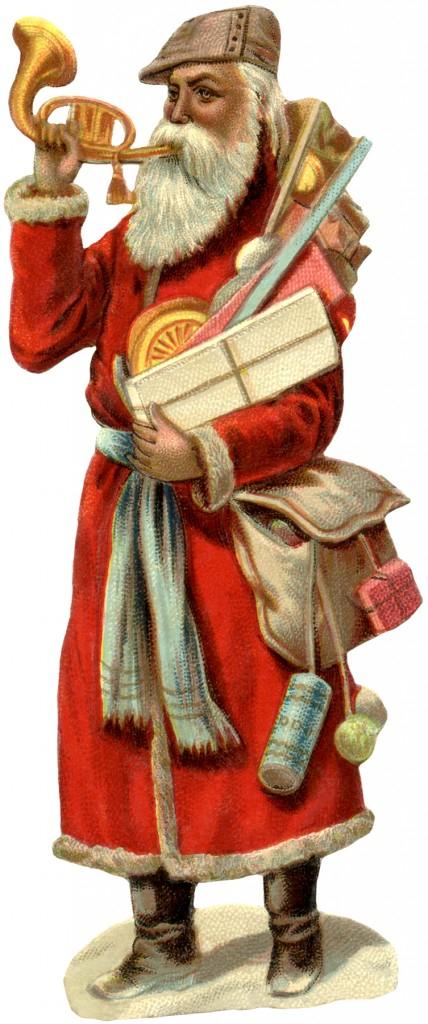 Wonderful Victorian Santa Image The Graphics Fairy