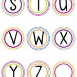 Word Wall Printable Letters S Z With Images Diy