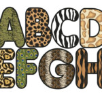 Zebra Print Letters Printable 8 900 X 775 Making The